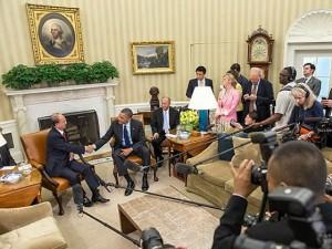 В прошлом месяце в Белом доме прошла встреча Тейн Сейна и Барака Обамы