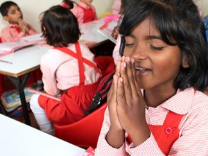 A student at a Barnabas-funded Christian school in Pakistan. Children at the schools are encouraged in their faith and some even share their new knowledge with their parents