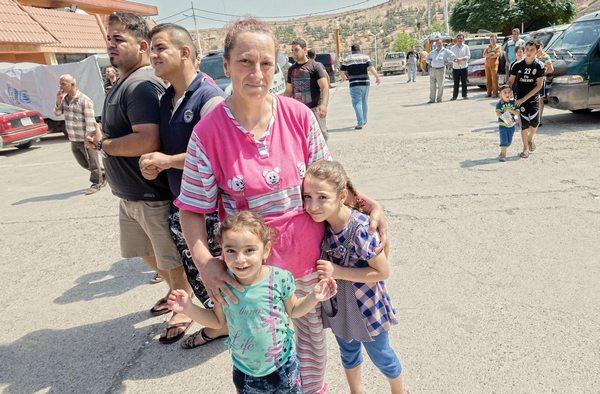 Иракские переселенцы в Эрбиле, автономном регионе Иракского Курдистана