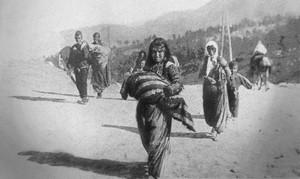 Депортированные армянские христиане. Сирия, 1915 г.