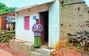 Один из домов для христиан, лишившихся крова  после насилия в Ориссе, Индия