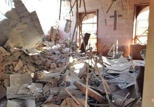 Разрушенная церковь в Алеппо, Сирия