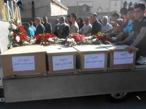 Похороны христиан, убитых исламскими боевиками в октябре 2013 года