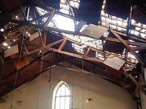 В результате взрыва 17 января серьезно пострадало здание армянской евангелической церкви Эммануэль