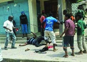 Одно из многочисленных нападений на христиан в Пембе